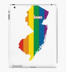 New Jersey Map Rainbow Pride Gifts iPad Case/Skin