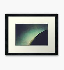 Abstract Dark Curve Framed Print