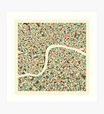LONDON MAP (1) Art Print