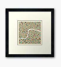 LONDON MAP (1) Framed Print