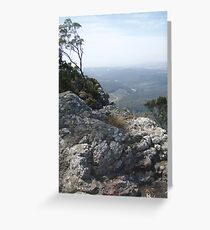 on Mt Gnomon, looking down towards the coastline-Ulverstone way Greeting Card
