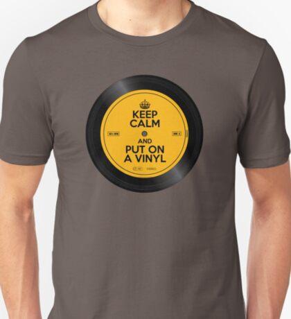 Keep Calm and Put On A Vinyl T-Shirt