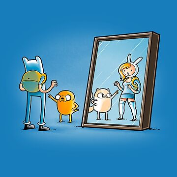 Finn and jake through the mirror by trheewood