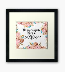 Blush pink and gold wildflower Framed Print