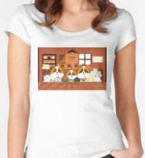 Doggy Cafe Women's Fitted Scoop T-Shirt