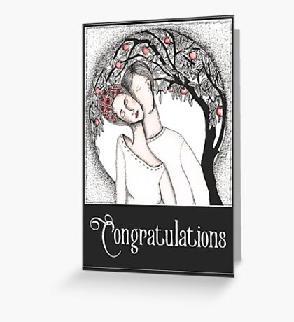 Love is a circle Greeting Card