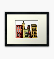 Cityscape Graphic Framed Print