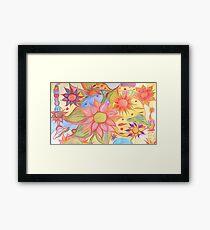 Floral pastel Garden Framed Print