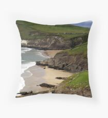 The sandy beach at Couminole Throw Pillow