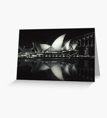 Quiet night at Sydney Opera House  Greeting Card