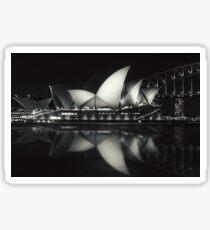 Quiet night at Sydney Opera House  Sticker