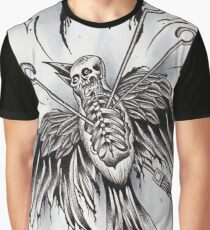 Bird skeleton with moon Graphic T-Shirt