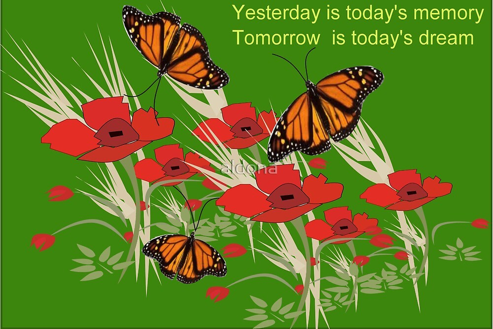 Poppies and butterflies (2982 Views) by aldona