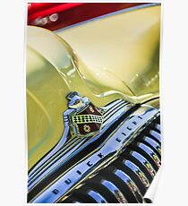 1948 Buick Roadmaster Convertible Grille Emblem -0725c Poster