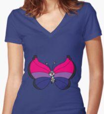 Pride-patterned Viv (pattern 4) Women's Fitted V-Neck T-Shirt