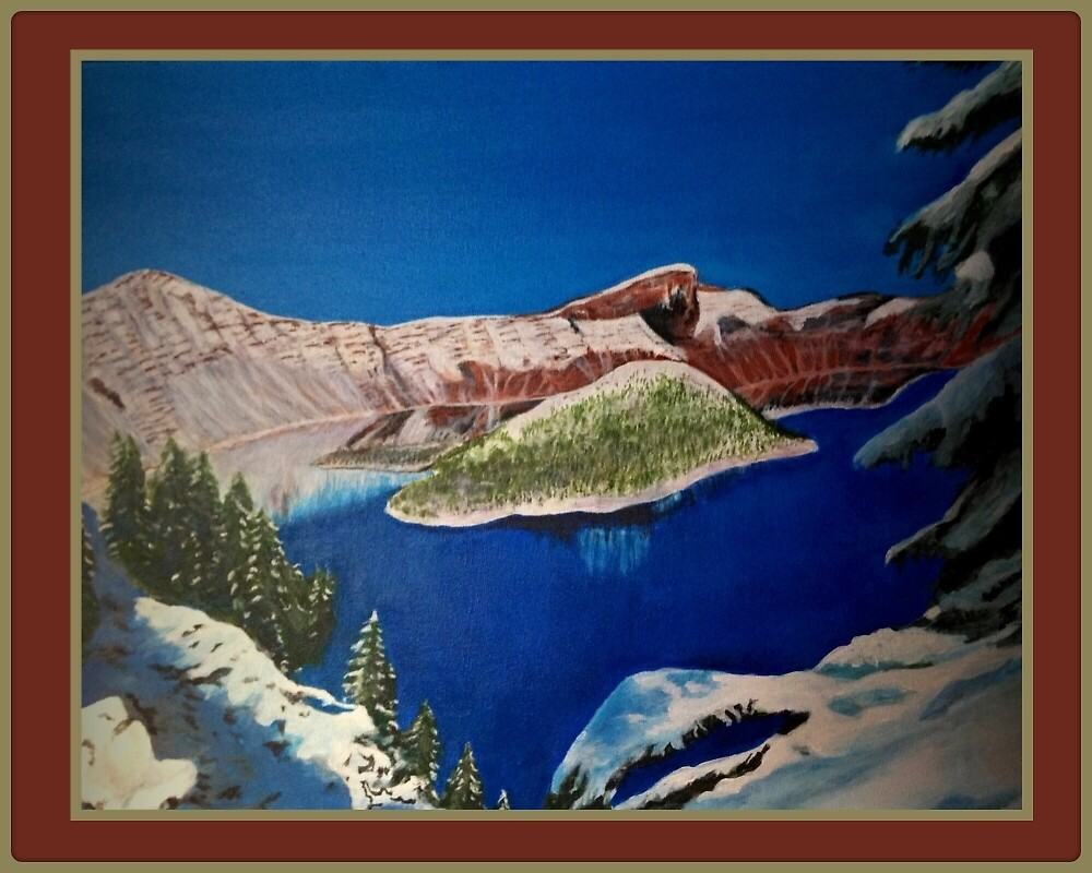 Crater Lake Snow by Koalierocky