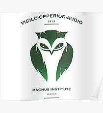 Vigilo Operior Audio Poster