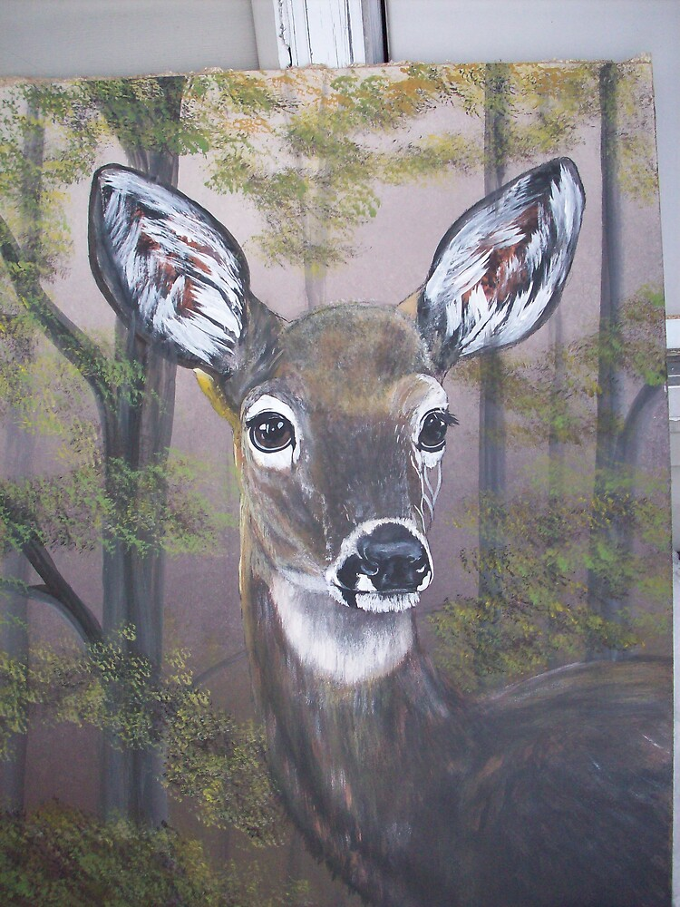 White-tailed doe by bullerwell