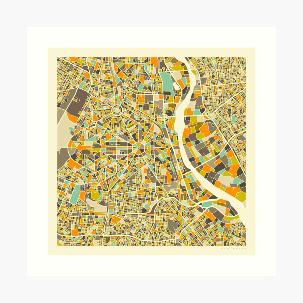 NEW DELHI MAP Art Print
