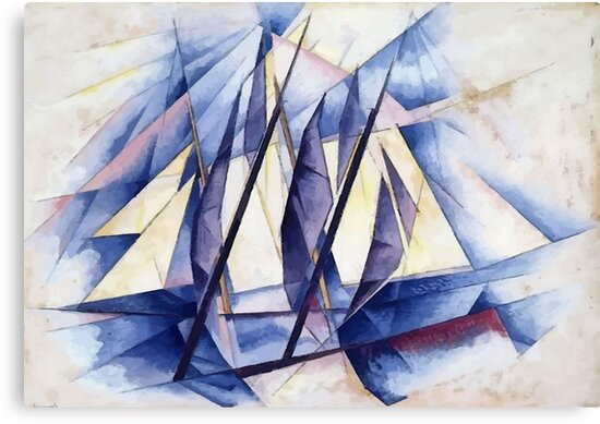 Sail In Two Movements After Charles Demuth by taiche