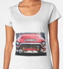 1957 GMC V8 Pickup Truck Grille Emblem -0318c Women's Premium T-Shirt