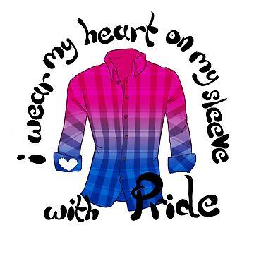 Heart on my sleeve - Bi Pride by Shinymarble