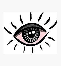 Eye is bloodshot Photographic Print