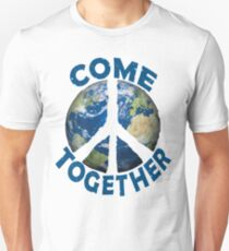 Come Together Earth Save the Planet World Peace Sign Love Activist Design Unisex T-Shirt