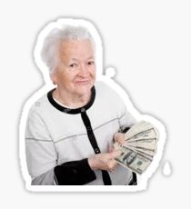Rich old lady Sticker