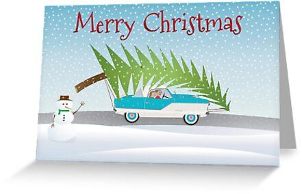 Merry Christmas Card by John Odziemek