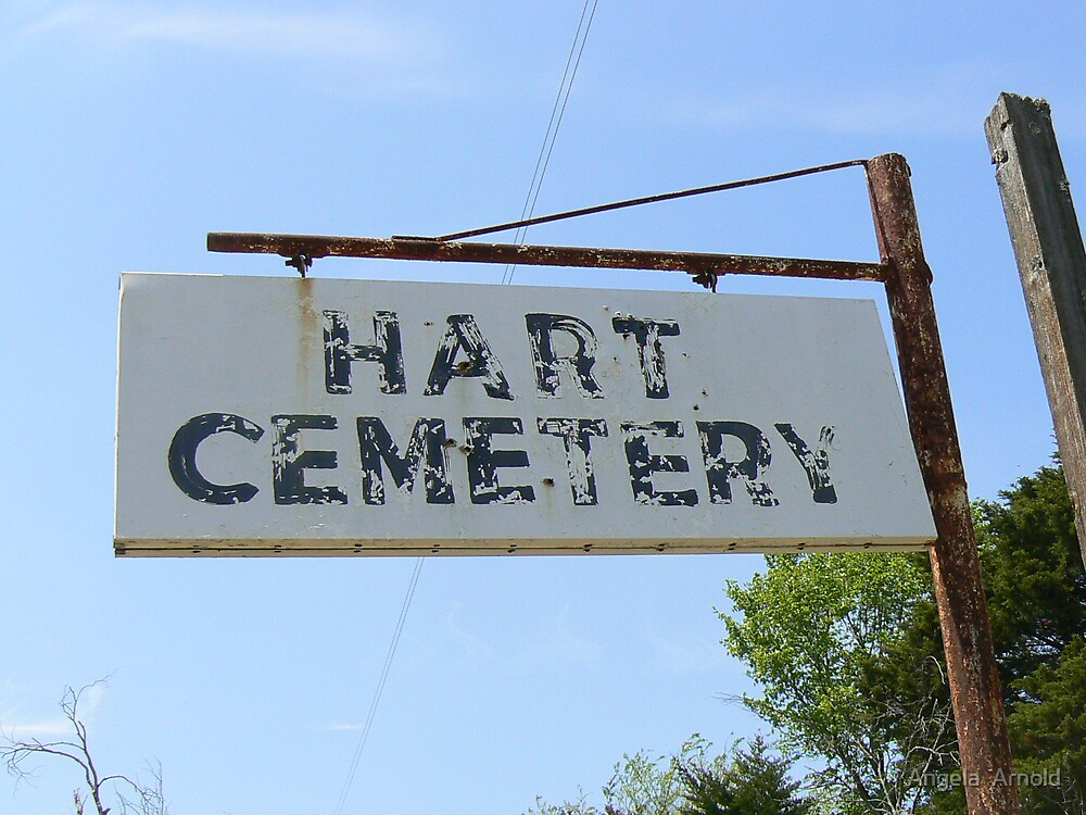 hart cemetary by Angela  Arnold