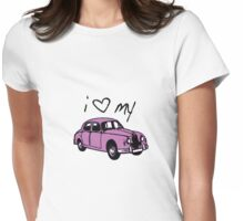 i luv my car...!! Womens Fitted T-Shirt