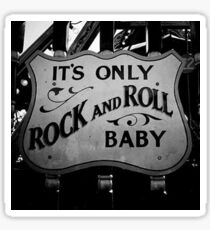 Rock and Roll Baby, vintage sign Sticker