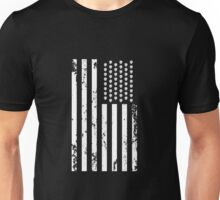 Hops and stripes forever! If you're a brewer and you love the United States, show your patriotic flair with this U.S. flag design made up of hops and stripes in white. Unisex T-Shirt