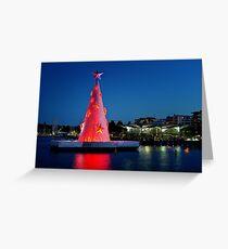 0186 Geelong Christmas tree Greeting Card