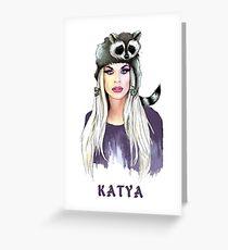 katya Greeting Card