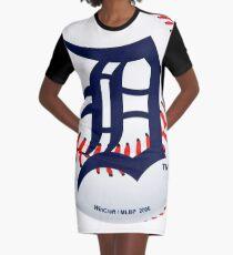 Detroit Tigers Ball Graphic T-Shirt Dress