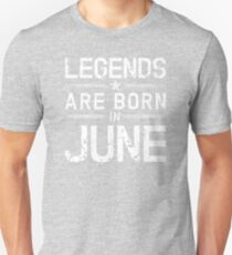 Legends Are Born In June - Vintage T-Shirt T-Shirt
