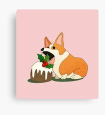Christmas Corgi Canvas Print