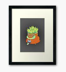 Undercover Monster Framed Print