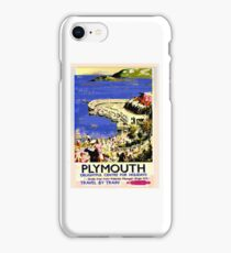 Travel by train - Plymouth. Advert. iPhone Case/Skin