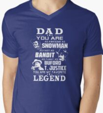 Dad You Are As Awesome As Snowman As Fast As Bandit As Funny As Buford T-Shirt