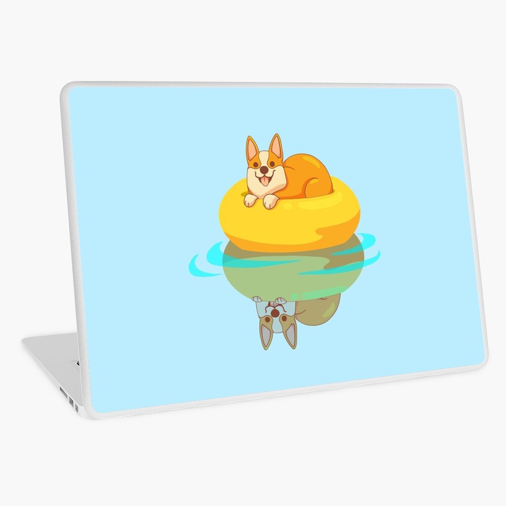 Summer Corgi Laptop Skin