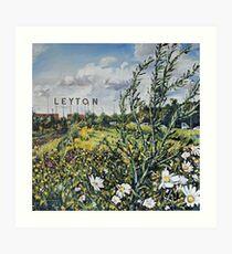 Leyton Buchstaben Kunstdruck