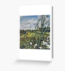 Leyton letters Greeting Card