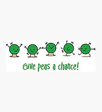 Give peas a chance! Photographic Print