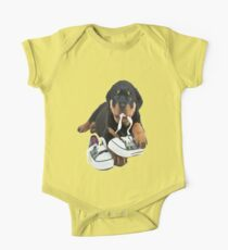 rottweiler pup  One Piece - Short Sleeve