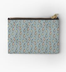 Penguins in teal Studio Pouch