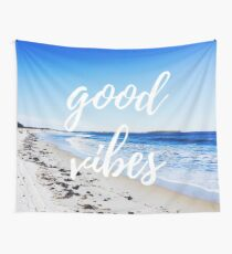 Good Vibes and Beach Wall Tapestry