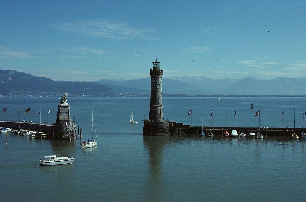 Lindau Harbor...Lake Constance by bertspix